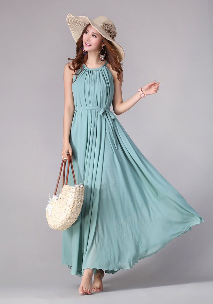Sundress Boho Long Maxi Dress Holiday Beach Dress Plus ...