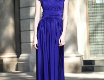 Cap Sleeve Long Formal Prom Dresses Party Bridesmaid